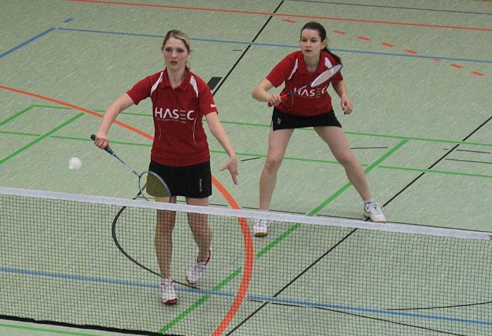 Mareike und Anke gewannen das Damendoppel der Zweiten gegen die SpG Zeulenrode/Neustadt (Foto: Mike)
