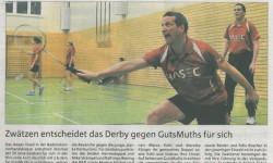 Nachtrag zum Sieg gegen SV GutsMuths II (26.1.2014)